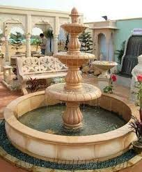 natural stone garden fountain from