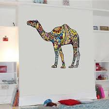 New Colorful Flower Animals Wall Stickers Kids Decor Vinyl Decal Art Mural Gift Camel And Dog Wall Sticker For Kids Room Decor Wall Murals And Decals Wall Murals And Stickers From Wangxiaofeng806