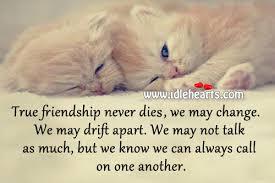 true friendship never dies