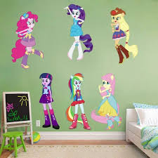 My Little Pony Equestria Girls Set Of 6 Removable Wall Stickers Decal 10 Inches For Sale Online Ebay