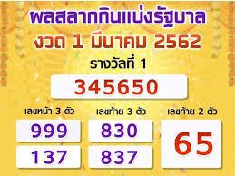 Today Thai Lottery Live Results 1-3-2019 – NaijaSpects
