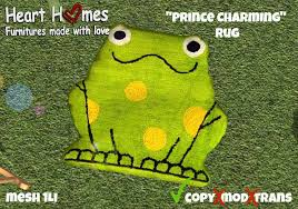 Second Life Marketplace Aphrodite Prince Charming Frog Rug Special For Nursery Or Kids Bedroom