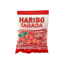 French Tagada Strawberry Candy by Haribo 4.2 oz