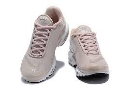 plus tn leather beige pink white