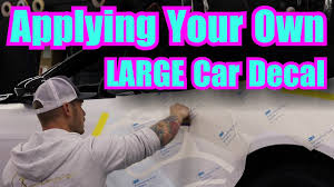 Ghost Car Decals Large Apply Non Air Release Decals Youtube
