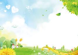 العشب الأخضر الطازج يترك خلفية الكرتون Cartoon Background Kids