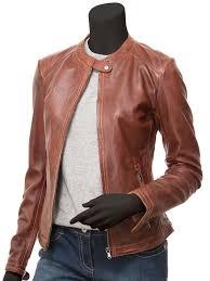 tan leather jacket womens las