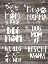 Fur Mama Decal Dog Mom Car Decal Vinyl Decal Laptop Decal Window Sticker Dog Mom Gift Rescue Mom Dog Mom Dog Mom Gifts Dog Mom Car Decals Vinyl