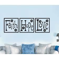 Enchantingly Elegant Faith Hope Love Paneling Religious Vinyl Wall Decal Wayfair