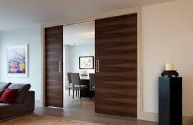 double door pocket system door