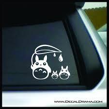 Totoro Rain Drops My Neighbor Totoro Inspired Vinyl Car Laptop Decal Decal Drama
