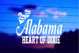 Alabama Heart Of Dixie Car Decal Sticker