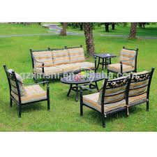 garden outdoor cast aluminum sofa set