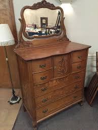 antique dresser oak center hat box