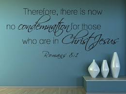 Romans 8 1 Scripture Bible Verse Wall Decal Nuovocreations