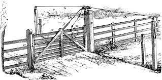 Wooden Locking Gate Clipart Etc
