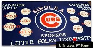 homemade little league baseball banner