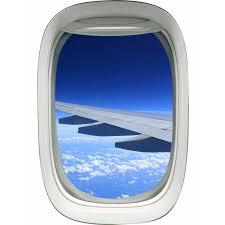 East Urban Home Airplane Wing Sky Clouds Window Wall Decal Wayfair