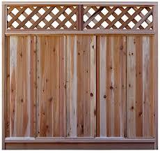 6 Ft H X 6 Ft W Western Red Cedar Diagonal Lattice Top Fence Panel Kit Amazon Ca Patio Lawn Garden