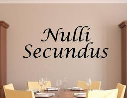 Nulli Secundus Wall Decal Latin For Second To None 0052 Kitchen Wall Decal Studios Com
