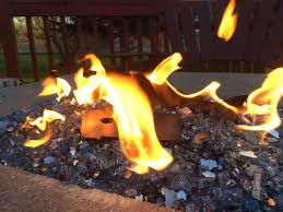fire glass in your gas fire pit