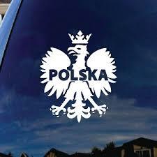 Polska Polish Poland Eagle Car Window Vinyl Decal Sticker