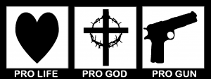 Pro Life Pro God Pro Gun Car Or Truck Window Decal Sticker Rad Dezigns