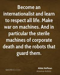 Abbie Hoffman War Quotes