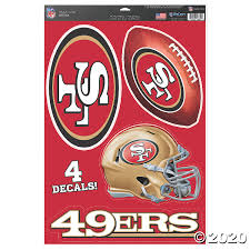 Nfl San Francisco 49ers Window Decals Discontinued