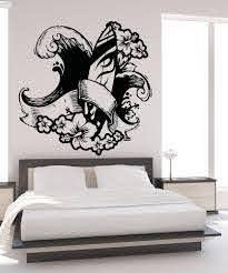 Hawaii Surf Wave Hibiscus Flower Design Vinyl Wall Decal Sticker Os Aa1246 Stickerbrand