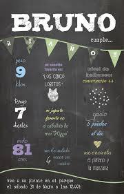 Invitacion Primer Cumpleanos Bruno Poster De Cumpleanos Primer