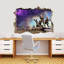 Fortnite Video Game 3d Smashed Hole Wall Sticker Decal Diy Mural Graphic J1303 Ebay
