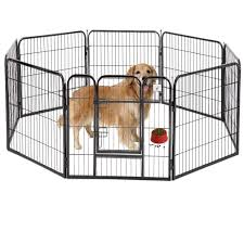 Dog Pen Extra Large Indoor Outdoor Dog Fence Playpen Heavy Duty 8 Panels 40 Inches Exercise Pen Dog Crate Cage Kennel Black Walmart Com Walmart Com