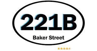 221b Baker Street Sherlock Holmes Detective Car Sticker Decal 5 X 3 Amazon Com