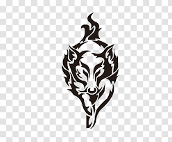 Car Sticker Decal Fox Racing Hood Black And White Wolf Transparent Png