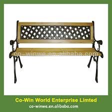 garden bench wooden bench with metal