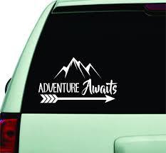 Adventure Awaits Car Decal Wanderlust Quote Design Sticker Wall Vinyl Boop Decals