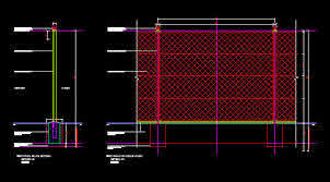 Cad Details Fencing 2 4m High Diamond Mesh Perimeter Security Fence 1