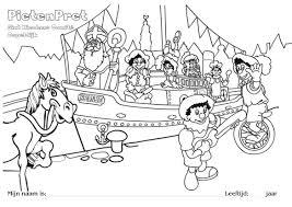 Kleurplaat Voor Sinterklaas En De Pieten In Ospeldijk Nederweert24