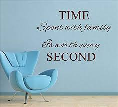 Amazon Com Time Spent With Family Is Worth Every Vinyl Wall Decals Quotes Sayings Word On Wall Decal Sticker Quotes Sports Outdoors