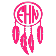 Monogrammed Vinyl Decal Dream Catcher Sunny And Southern