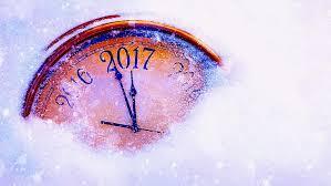 happy new year snow clock countdown