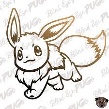 Eevee Svg Flat Pokemon Smash Brother Eevee Pikachu Etsy