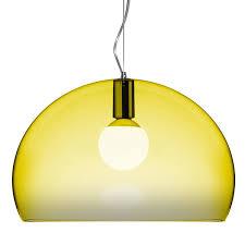 kartell fl y pendant lamp yellow