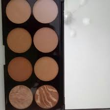 blush and contour palette bronzer