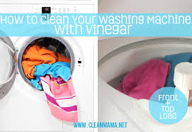 clean your washing machine with vinegar