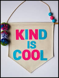 Kind Is Cool Large Banner Handmade Canvas Banner Kids Room Decor Decorative Wall Banner Free Shipping