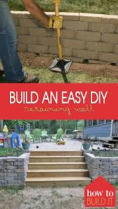 build an easy diy retaining wall how