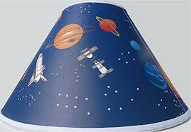 Amazon Com Outer Space Lamp Shade Planets Children S Nursery Space Decor Baby