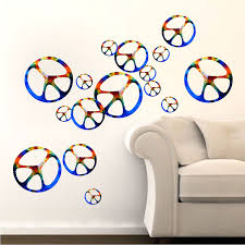 Hippie Peace Signs Wall Decal Sixties Wall Decal Murals Primedecals